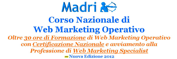 Corso Nazionale di Web Marketing Operativo